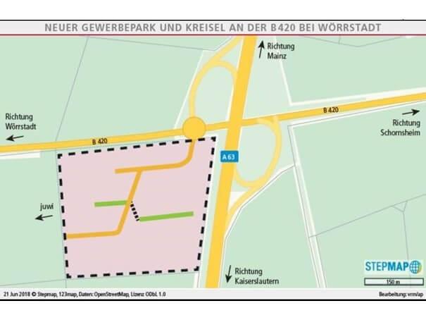 Erschliessungsvertrage Fur Gewerbepark Und Autohof In Worrstadt A63